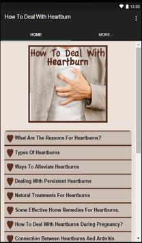 How To Deal With Heartburn apk screenshot
