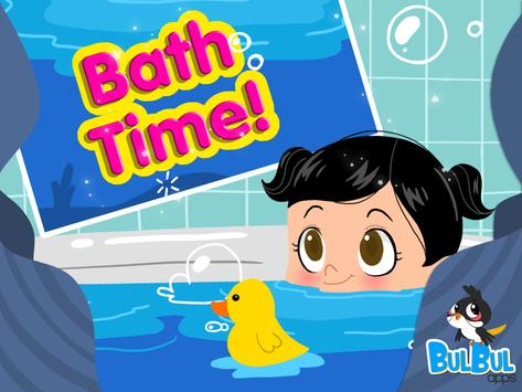 Baby Bath Time - Cute Baby App poster