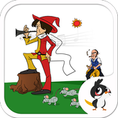 Pied Piper Animated Kids App icon