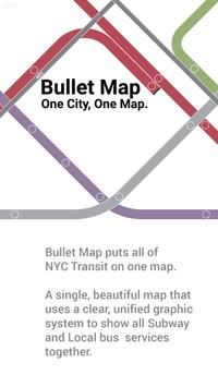 Bullet Map NYC poster