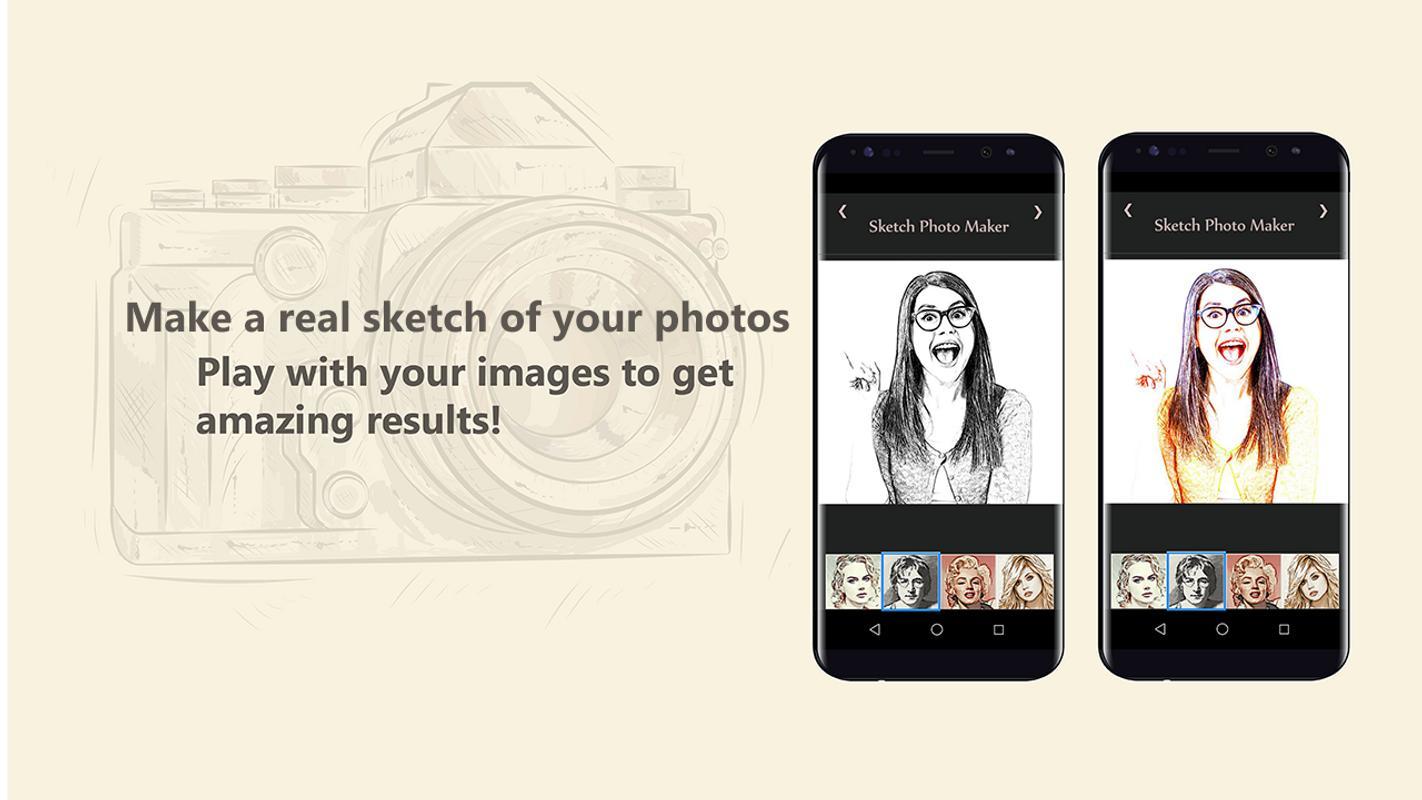 Sketch photo maker poster