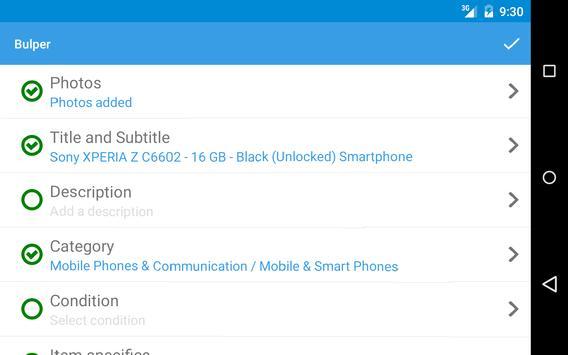 Bulper sell tool for eBay apk screenshot