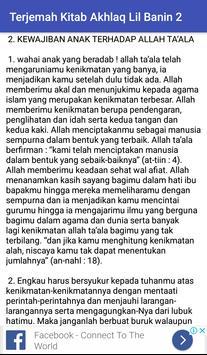 Terjemah Kitab Akhlaq Lil Banin Jilid 2 screenshot 4