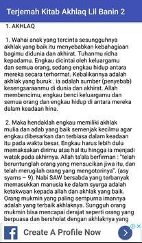Terjemah Kitab Akhlaq Lil Banin Jilid 2 screenshot 3