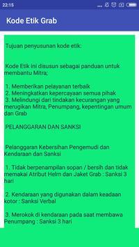 Kode Etik Grab apk screenshot