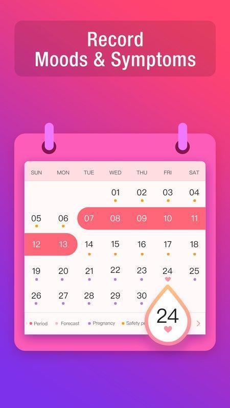 Calendario Maya Gravidanza.Period Tracker Calendario Gravidanza E Ovulazione For