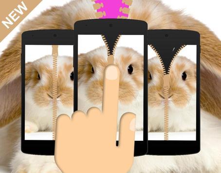 Bunny Clever Zipper Locker poster