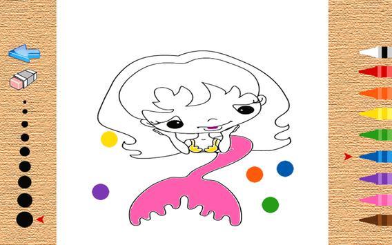 Little Mermaid Coloring Book Apk Screenshot