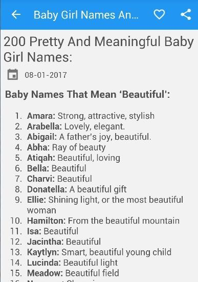Baby Girl Names And Meanings for Android - APK Download