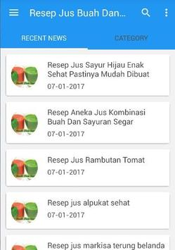 Resep Jus Buah Dan Sayur poster