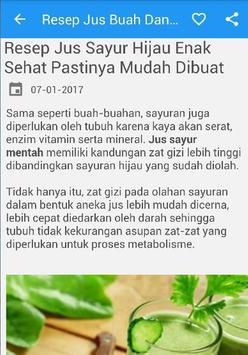 Resep Jus Buah Dan Sayur screenshot 1