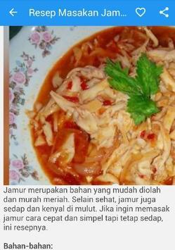Resep Masakan Jamur apk screenshot