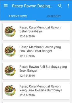 Rawon Daging Sapi Resep Masak poster