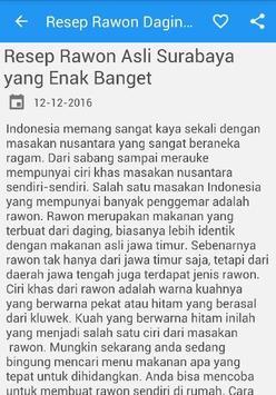 Rawon Daging Sapi Resep Masak apk screenshot