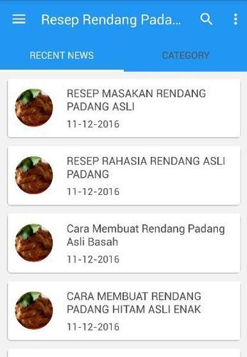 Rendang Padang Resep Masakan For Android Apk Download