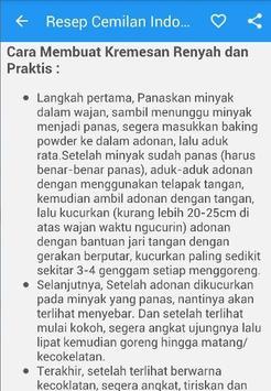 Resep Cemilan Indonesia screenshot 4