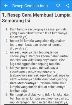 Resep Cemilan Indonesia screenshot 5