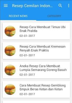 Resep Cemilan Indonesia poster
