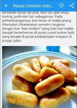 Resep Cemilan Indonesia apk screenshot