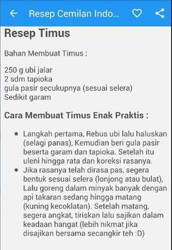 Resep Cemilan Indonesia screenshot 2
