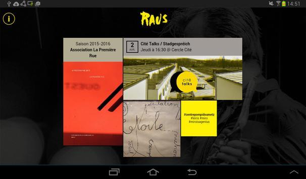 Raus apk screenshot