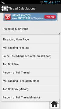 Machinist Thread Calculator screenshot 2