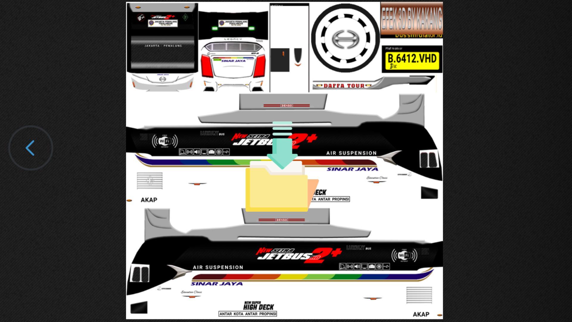 Download Livery Bus Shd Sinar Jaya