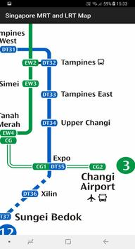 Singapore MRT and LRT Map poster