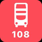 My London TFL Bus Times - 108 icon
