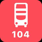 My London TFL Bus Times - 104 icon