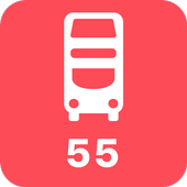 My London TFL Bus Times - 55 icon