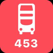 My London TFL Bus Times - 453 icon