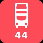 My London TFL Bus Times - 44 icon