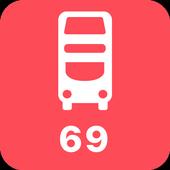 My London TFL Bus Times - 69 icon