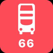 My London TFL Bus Times - 66 icon