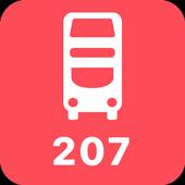 My London TFL Bus Times - 207 icon