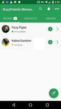 Busyfriends Messenger screenshot 1
