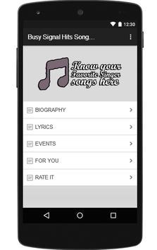 Busy Signal Hits Songs & Lyrics. poster
