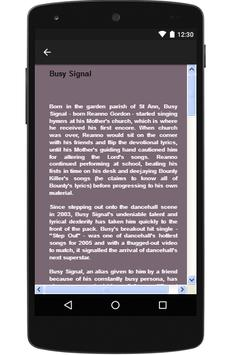 Busy Signal Hits Songs & Lyrics. screenshot 1