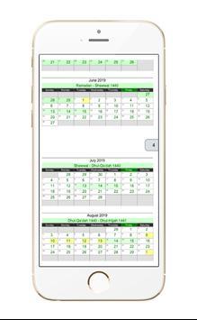 Islamic Hijri Calendar screenshot 2