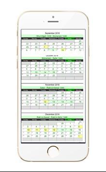 Islamic Hijri Calendar screenshot 3