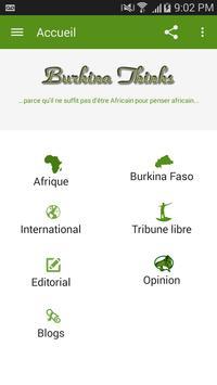 Burkina Thinks poster