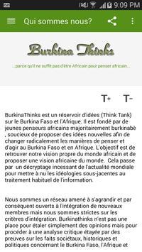 Burkina Thinks screenshot 2