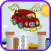 Flying Red Car icon