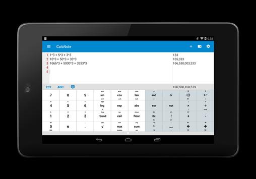 CalcNote Pro - Notepad-Rechner Screenshot 5