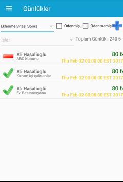 Çalışan Takibi apk screenshot