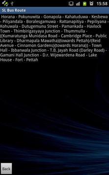 Sri lanka bus route apk screenshot