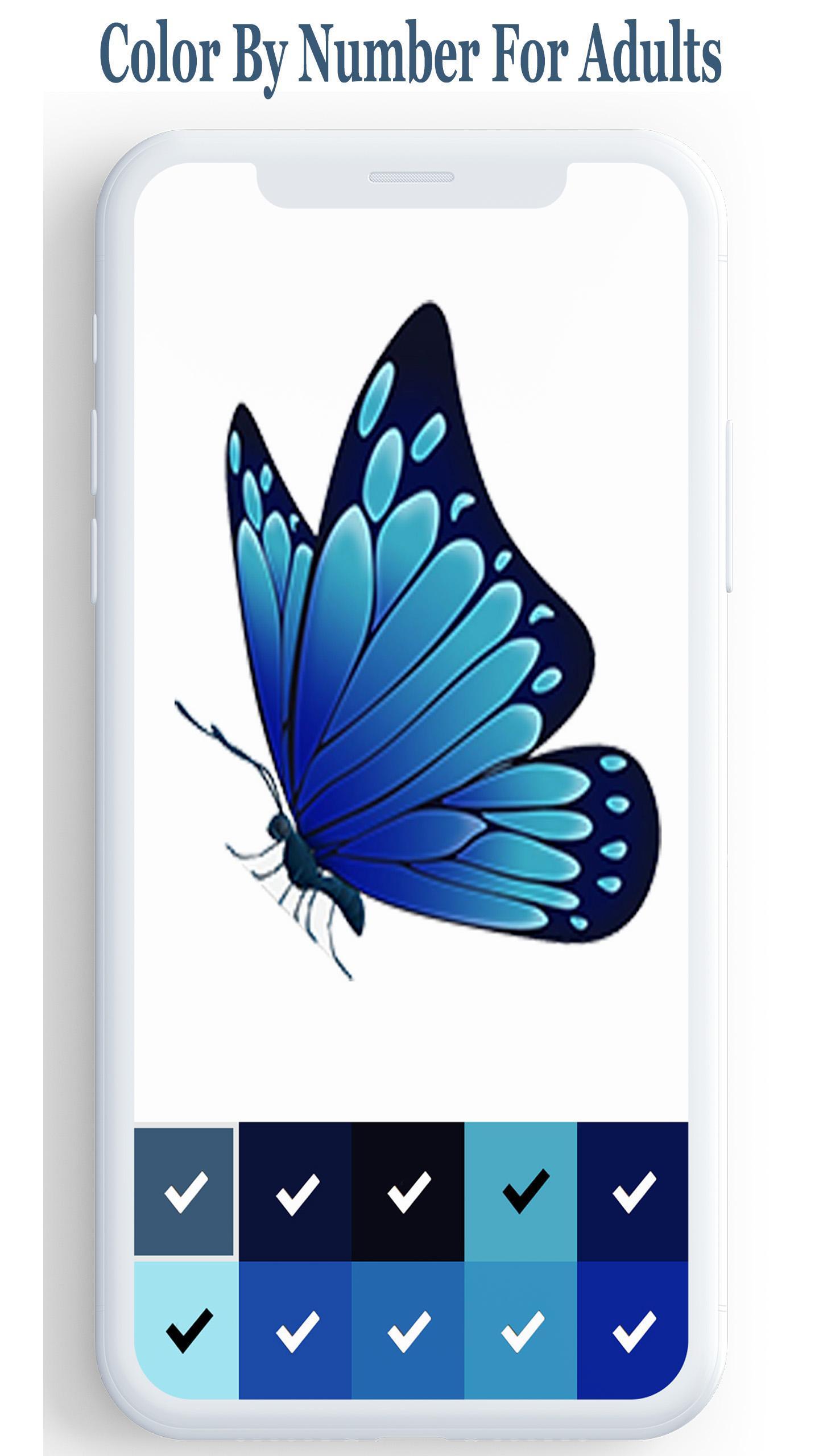 Android Icin Sayisina Gore Kelebek Rengi Kelebek Boyama Apk Yi
