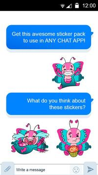 Butterfly Stickers for chat apk screenshot