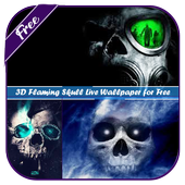 3D Flaming Skull Wallpaper for Free icon